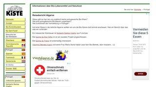 bilkinfo Gemüsekiste Reisebericht