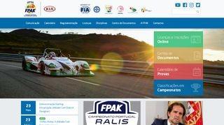 Federação de Automobilismo e Karting