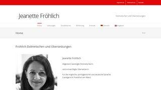 Frankfurt - Fröhlich Übersetzungen