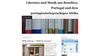 Literatur- und Musik-Blog zu Portugal