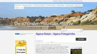 Die schönsten Plätze der Algarve