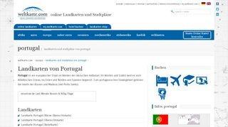 Online Lankdarten und Stadtpläne von Portugal