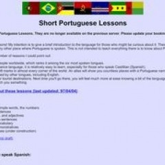 Short Portuguese Lessons
