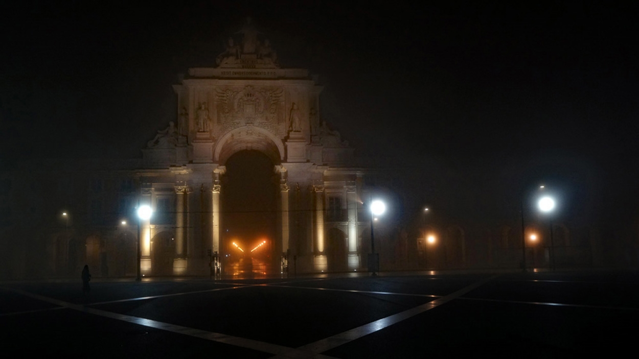 Nebel in Lissabon